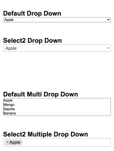 Select2 Dropdown Integration | StackCoder
