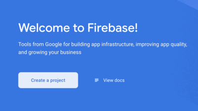 Firebase Create New Project Page