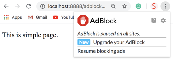 When AdBlock Is Paused And Page Reloaded
