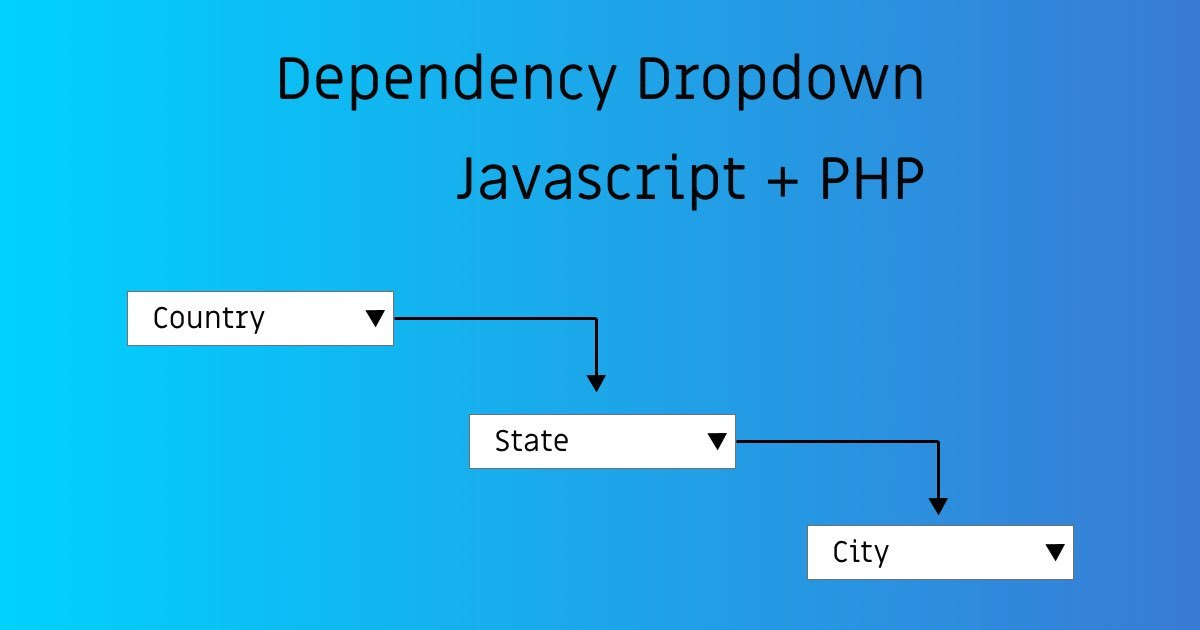 Dependency Dropdown With Javascript & PHP