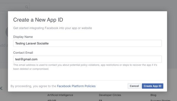 Facebook New App ID