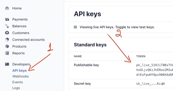 Stripe Testing Or Live Keys
