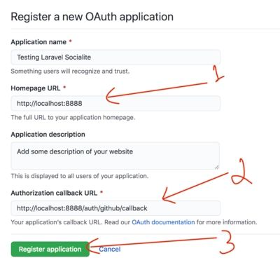 OAuth Application Form